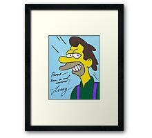 Lenny Framed Print