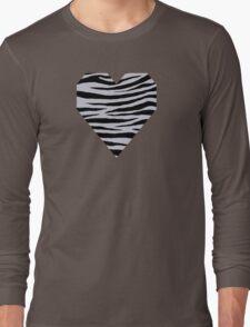 0347 Lavender Gray Tiger Long Sleeve T-Shirt