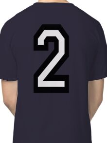 2, TEAM, SPORTS, NUMBER 2, TWO, SECOND, Twice, Duo, Couple, Competition Classic T-Shirt