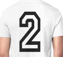 2, TEAM, SPORTS, NUMBER 2, TWO, SECOND, Twice, Duo, Couple, Competition Unisex T-Shirt