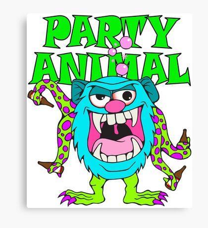 Party Animal Monster Cartoon Canvas Print