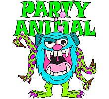 Party Animal Monster Cartoon Photographic Print