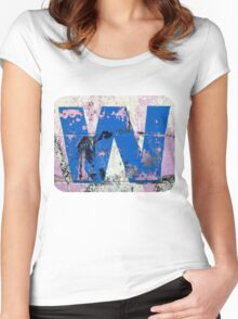Blue W Women's Fitted Scoop T-Shirt