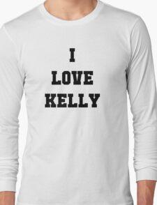 "Justin & Kelly Wedding - Special Edition Shirt - ""Kelly"" Long Sleeve T-Shirt"