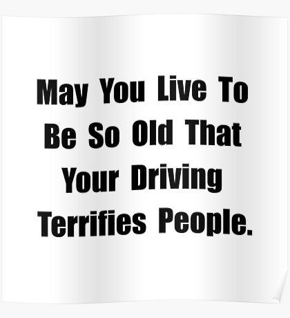 Driving Terrifies Poster