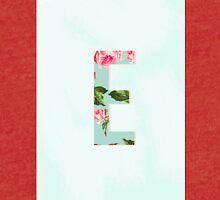 Floral Letter E - Letter Collection Tri-blend T-Shirt