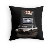 1982 DeLorean DMC-12 Night Throw Pillow