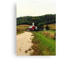 A Farm in Rural Wisconsin Canvas Print
