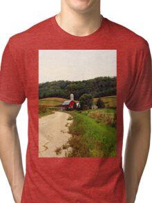 A Farm in Rural Wisconsin Tri-blend T-Shirt