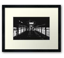 On board. Framed Print