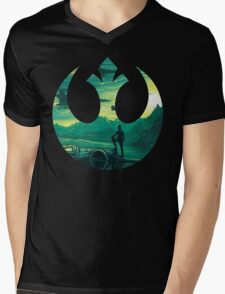 Star Wars VII - Poe Starship Mens V-Neck T-Shirt