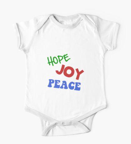 Hope Joy Peace One Piece - Short Sleeve