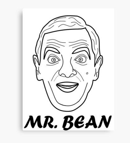 Mr Bean Head Illustration Canvas Print
