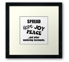 Marketing Buzzwords Framed Print