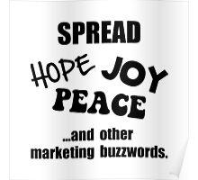 Marketing Buzzwords Poster