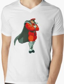 M. Bison Mens V-Neck T-Shirt