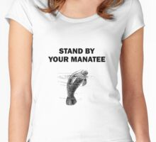 Stand By Your Manatee Women's Fitted Scoop T-Shirt