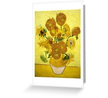 Vincent van Gogh - Still Life - Vase with Fifteen Sunflowers Greeting Card
