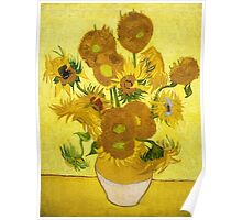 Vincent van Gogh - Still Life - Vase with Fifteen Sunflowers Poster