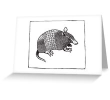 Graphic Armadillo Greeting Card