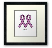 Cancer&txt - Never Ever Give up Hope Framed Print