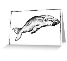 Graphic Sperm Whale Greeting Card