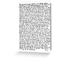 TROYE SIVAN SUBURUBIA  Greeting Card