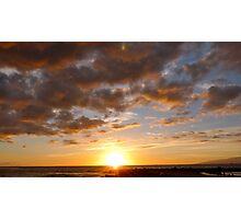 Sunset Off Tenerife Photographic Print