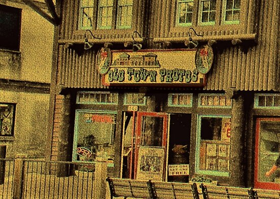 """""""Gatlinburg, Tennessee Series, #5, 'The Old Timey Photo Shop, 2nd Picture'""""... prints and products by © Bob Hall"""
