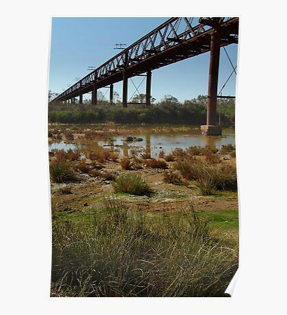 Joe Mortelliti Gallery - Ruins of a railway bridge, Old Ghan Railway, South Australia. Poster