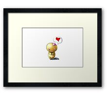 Dumb Love Framed Print
