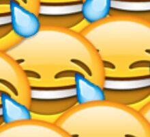 Laughing face emoji Sticker