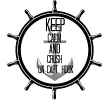 Keep Calm and Crush on Capt. Hook Photographic Print