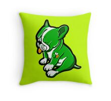 Irish Boston Bull Terrier Puppy  Throw Pillow