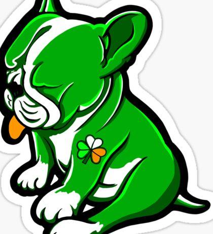 Irish Boston Bull Terrier Puppy  Sticker