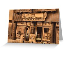 """""""Gatlinburg, Tennessee Series, #5... 'The Old Timey Photo Shop, 1st Picture""""'... prints and products Greeting Card"""