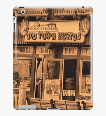"""""""Gatlinburg, Tennessee Series, #5... 'The Old Timey Photo Shop, 1st Picture""""'... prints and products iPad Case/Skin"""