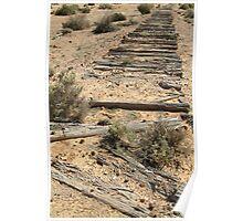 Joe Mortelliti Gallery - Ruins of a railway, Old Ghan Railway, South Australia. Poster