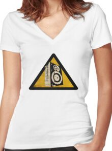 Loud Women's Fitted V-Neck T-Shirt