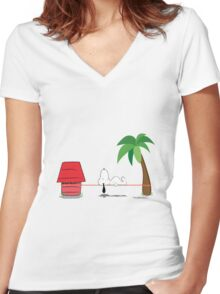 Snoopline Women's Fitted V-Neck T-Shirt