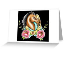 Lucky Horse Greeting Card