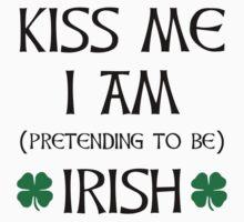 Kiss Me I'm Pretending To Be Irish Kids Tee