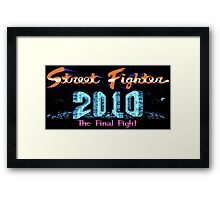Street Fighter 2010: The Final Fight (NES Title Screen) Framed Print