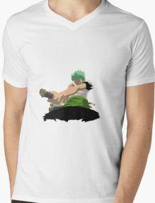 Zorro Shishi Sonson against Kuma Mens V-Neck T-Shirt