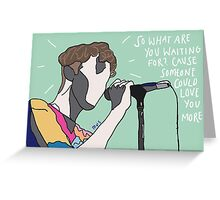 TROYE SIVAN LOST BOY GREEN Greeting Card