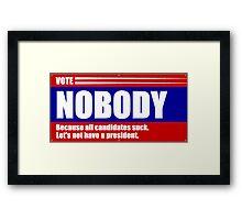 Presidential election 2016 Framed Print