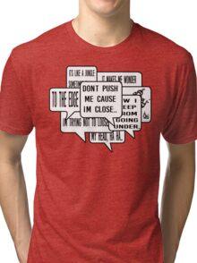 Grandmaster Flash - The Message Hip Hop lyrics Tri-blend T-Shirt