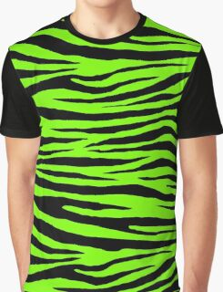 0354 Lawn Green Tiger Graphic T-Shirt