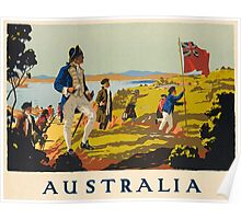 Australia, Captain Cook; Vintage Travel Poster Poster