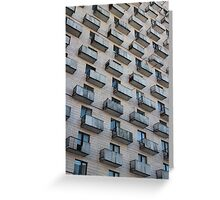 Balconies on the outside wall Greeting Card